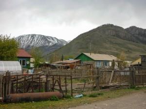 street in aktaw altay region