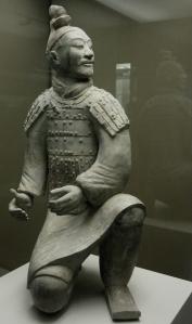 sitting terracota warrior